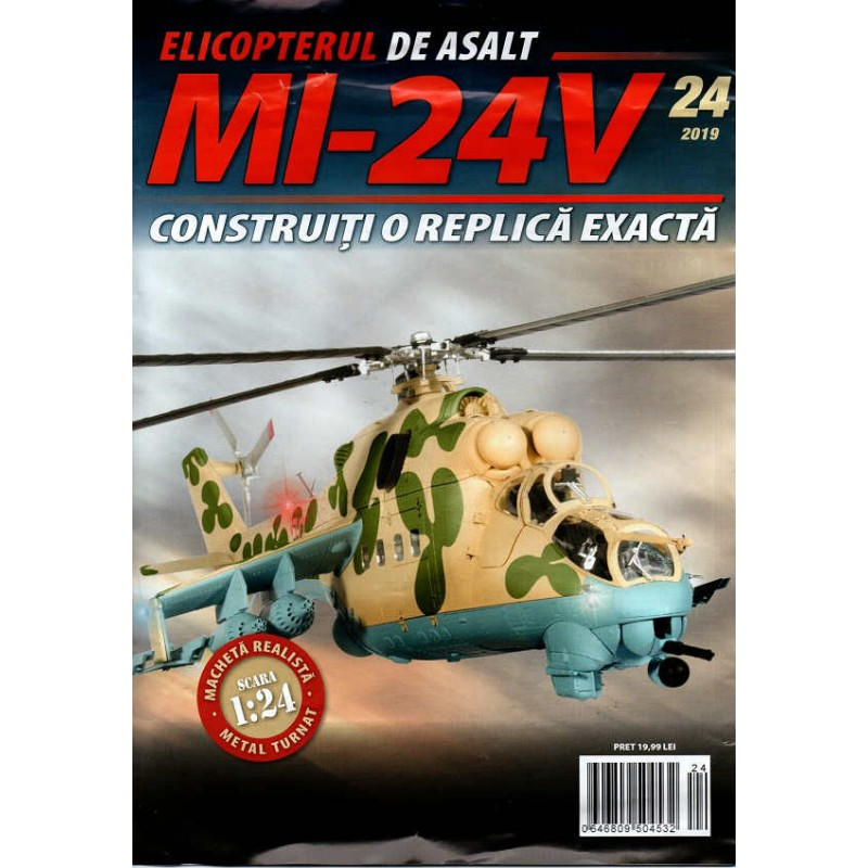 Macheta Elicopterului de asalt MI-24V nr 24, 1:24 Eaglemoss