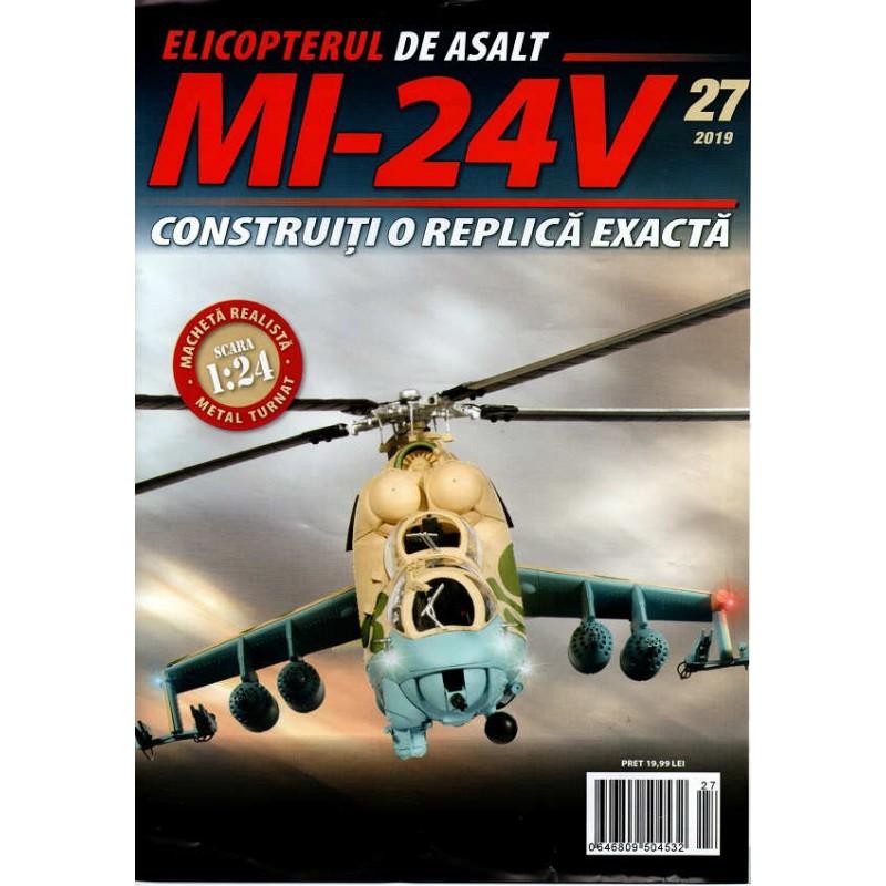 Macheta Elicopterului de asalt MI-24V nr 27, 1:24 Eaglemoss