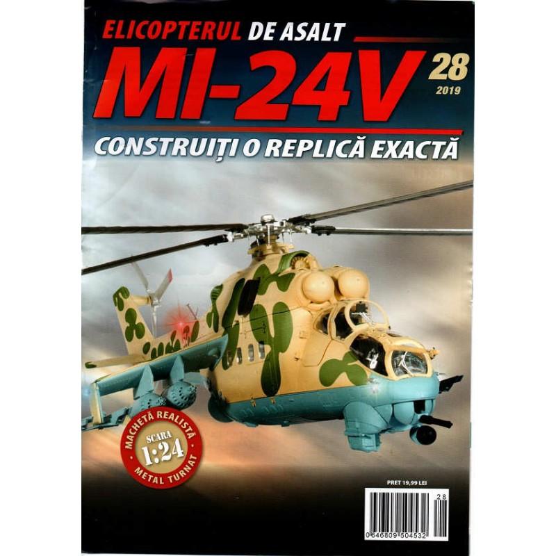 Macheta Elicopterului de asalt MI-24V nr 28, 1:24 Eaglemoss
