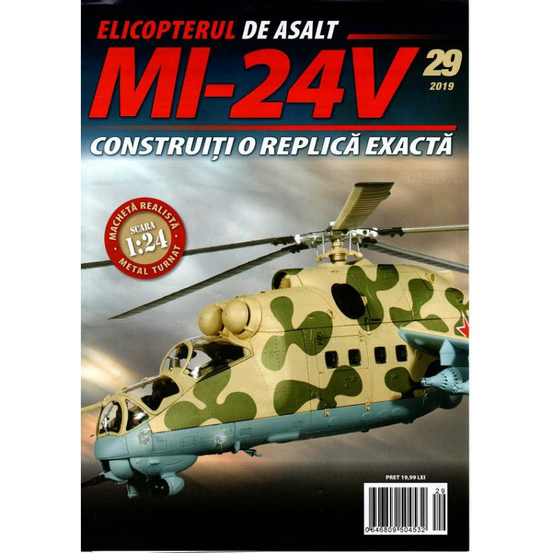 Macheta Elicopterului de asalt MI-24V nr 29, 1:24 Eaglemoss