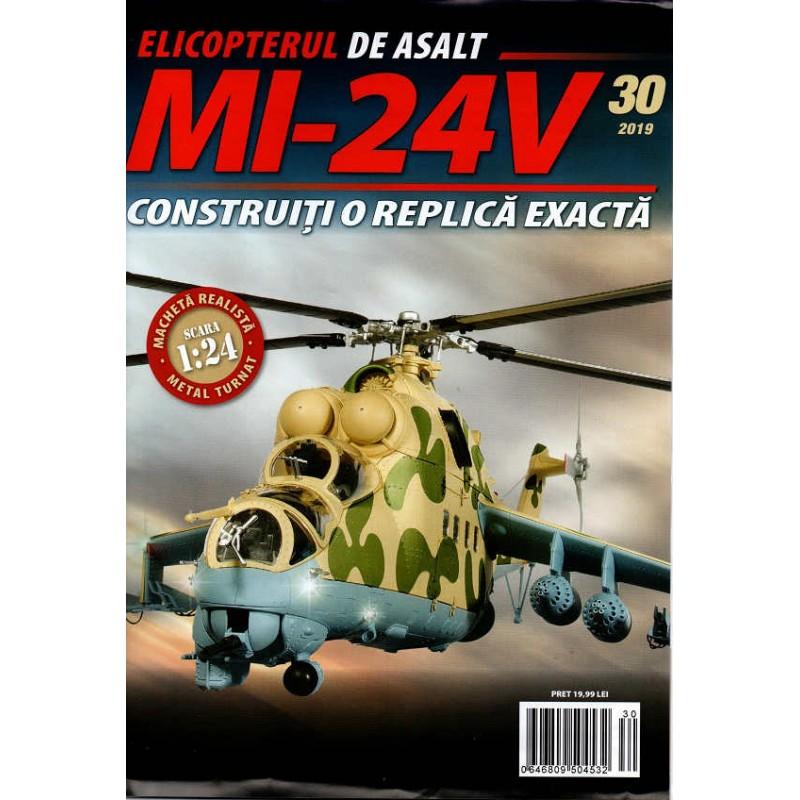Macheta Elicopterului de asalt MI-24V nr 30, 1:24 Eaglemoss