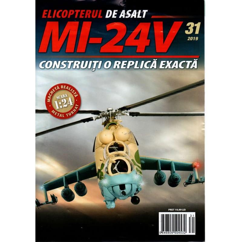 Macheta Elicopterului de asalt MI-24V nr 31, 1:24 Eaglemoss