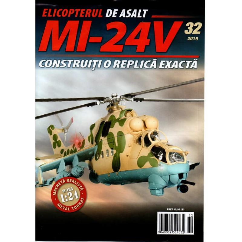 Macheta Elicopterului de asalt MI-24V nr 32, 1:24 Eaglemoss