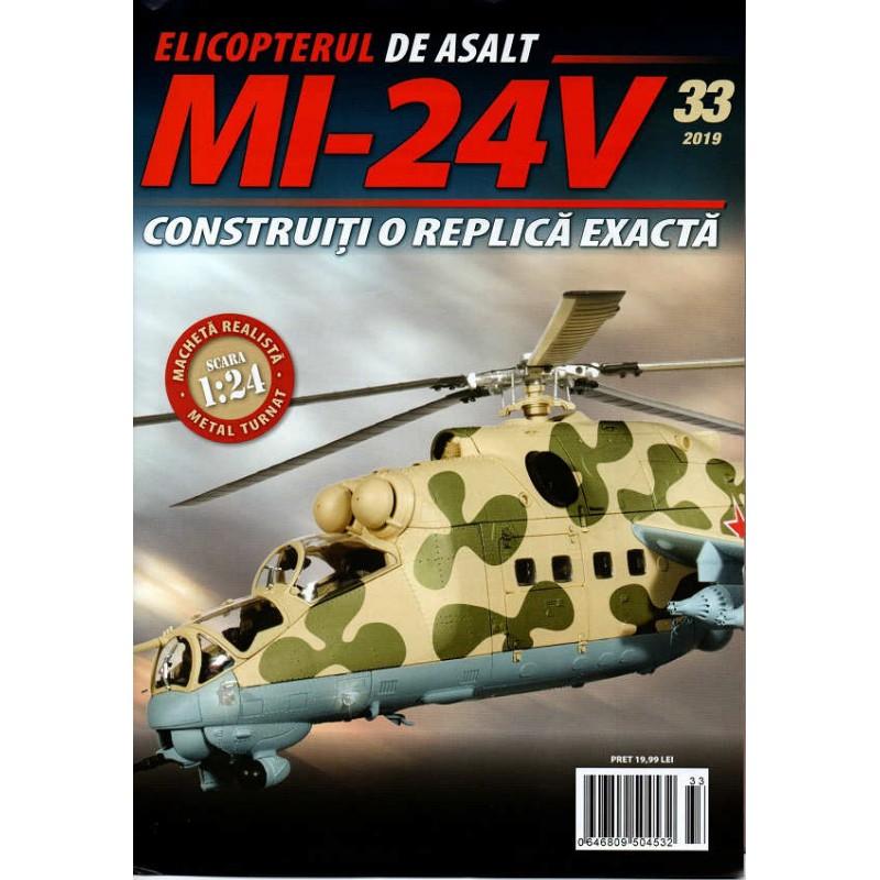 Macheta Elicopterului de asalt MI-24V nr 33, 1:24 Eaglemoss