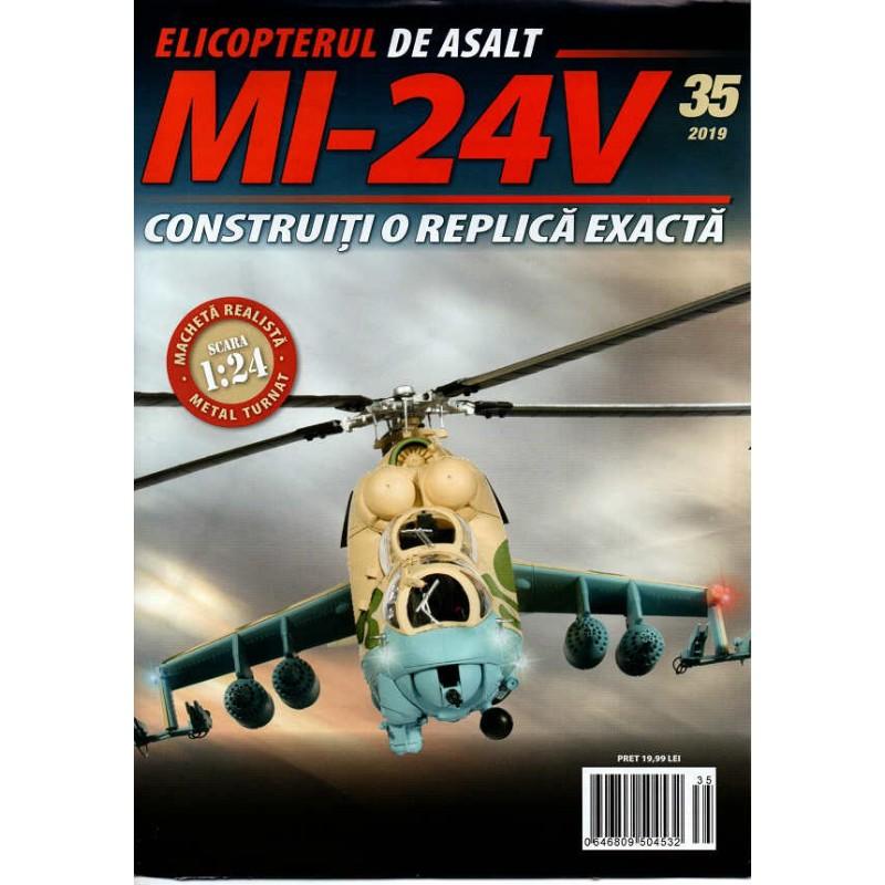 Macheta Elicopterului de asalt MI-24V nr 35, 1:24 Eaglemoss