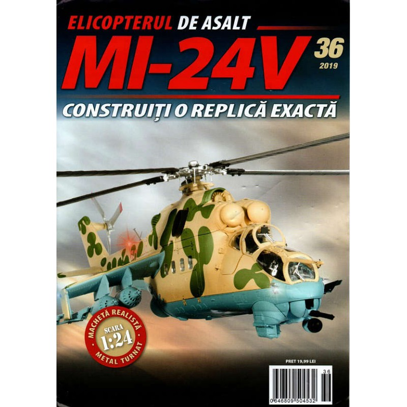 Macheta Elicopterului de asalt MI-24V nr 36, 1:24 Eaglemoss