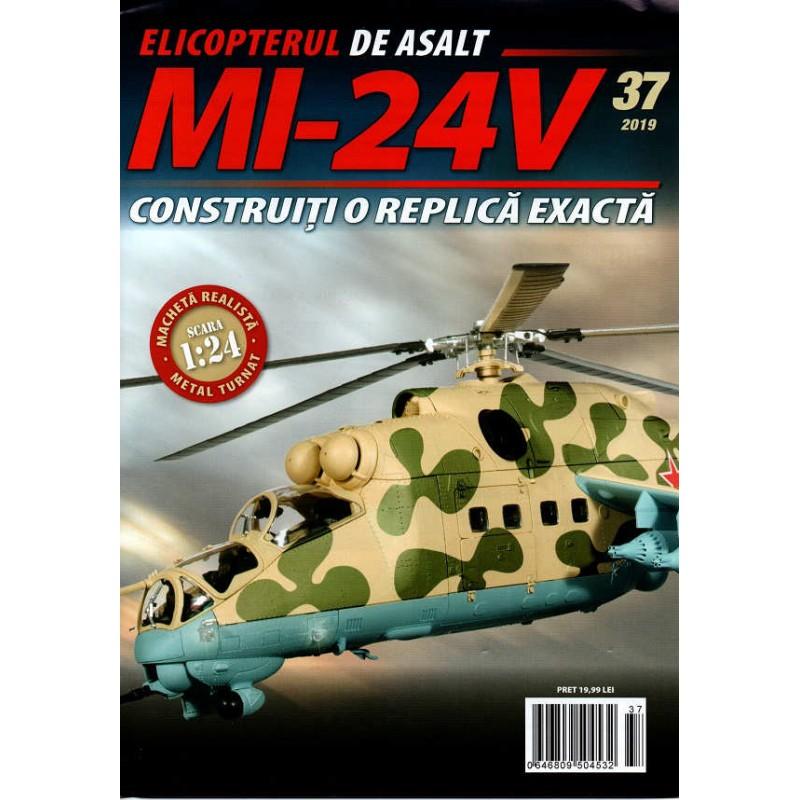 Macheta Elicopterului de asalt MI-24V nr 37, 1:24 Eaglemoss