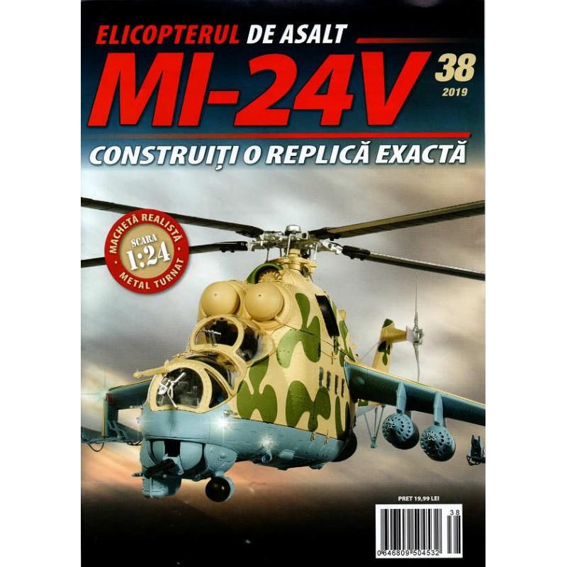 Macheta Elicopterului de asalt MI-24V nr 38, 1:24 Eaglemoss