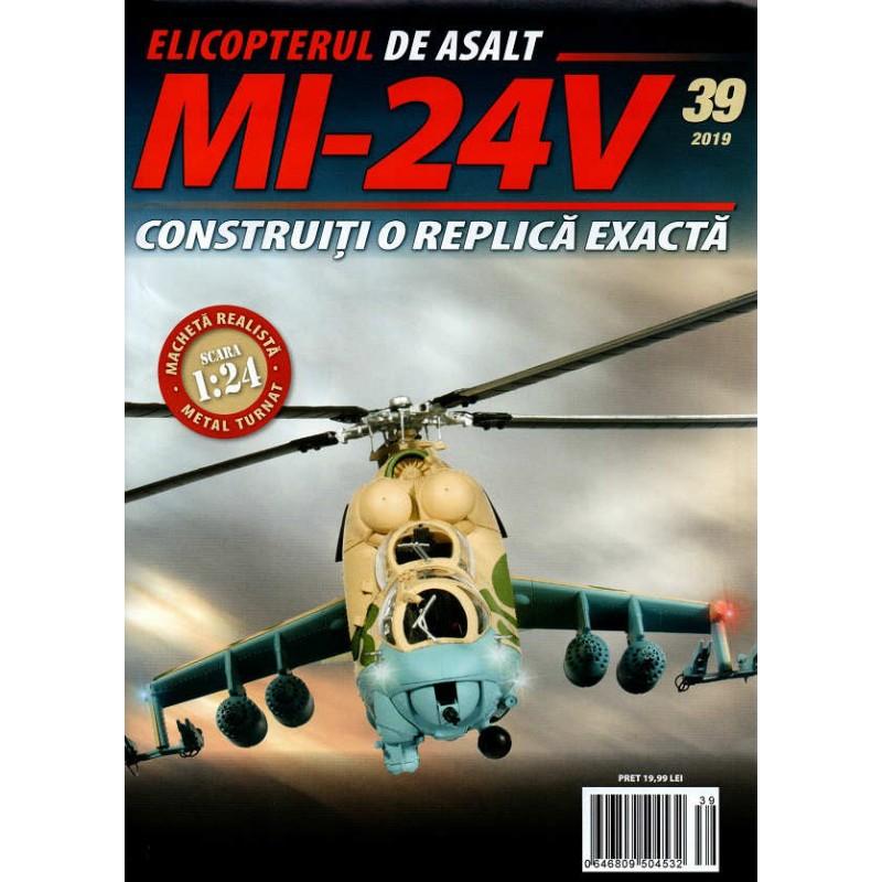 Macheta Elicopterului de asalt MI-24V nr 39, 1:24 Eaglemoss