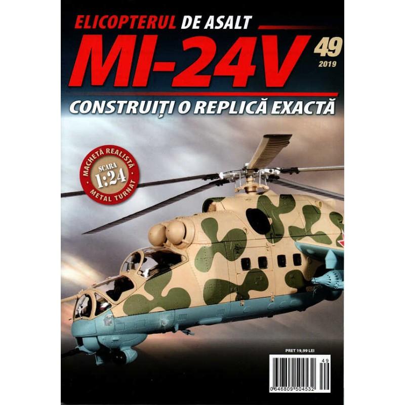 Macheta Elicopterului de asalt MI-24V nr 49, 1:24 Eaglemoss