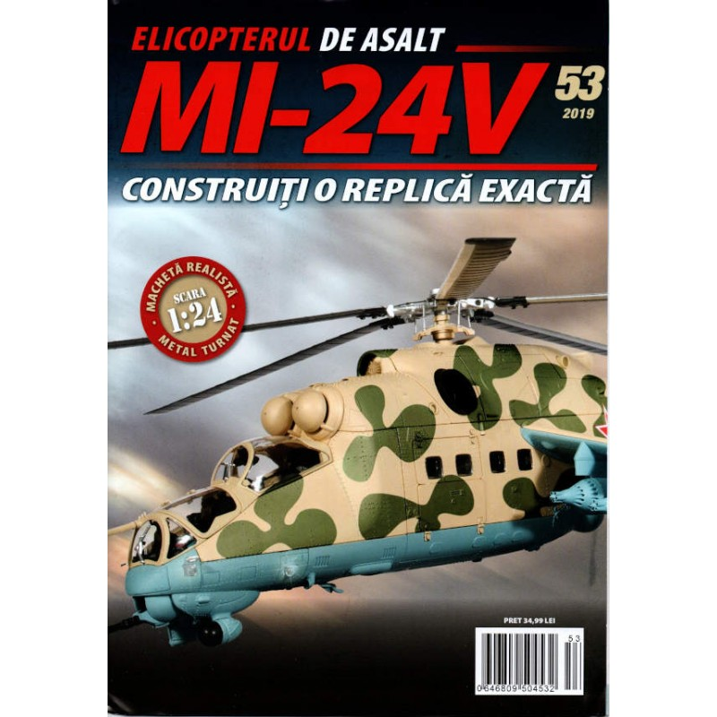 Macheta Elicopterului de asalt MI-24V nr 53, 1:24 Eaglemoss