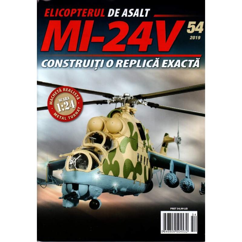 Macheta Elicopterului de asalt MI-24V nr 54, 1:24 Eaglemoss