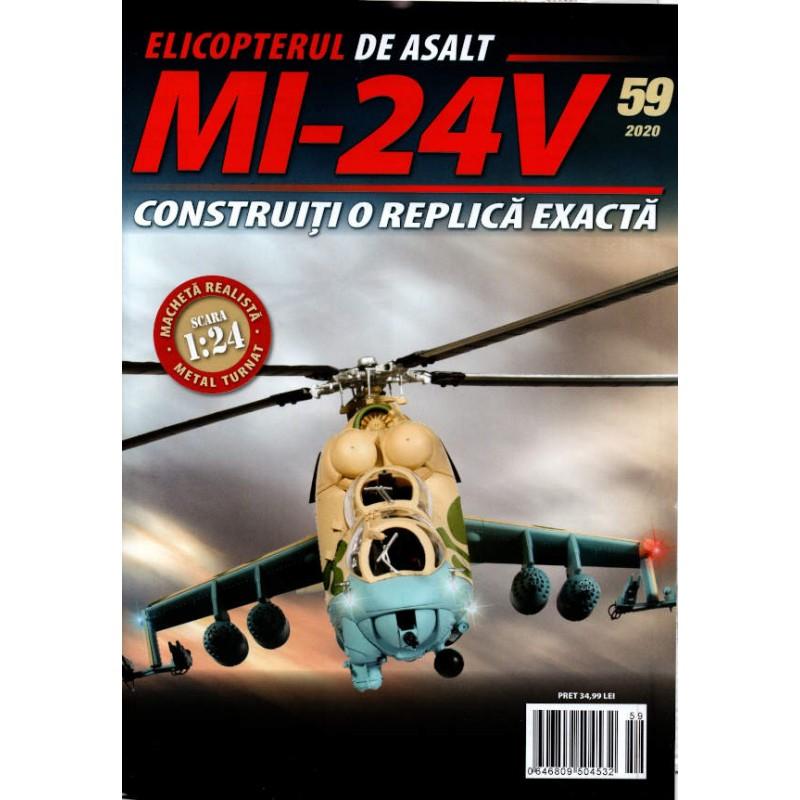 Macheta Elicopterului de asalt MI-24V nr 59, 1:24 Eaglemoss