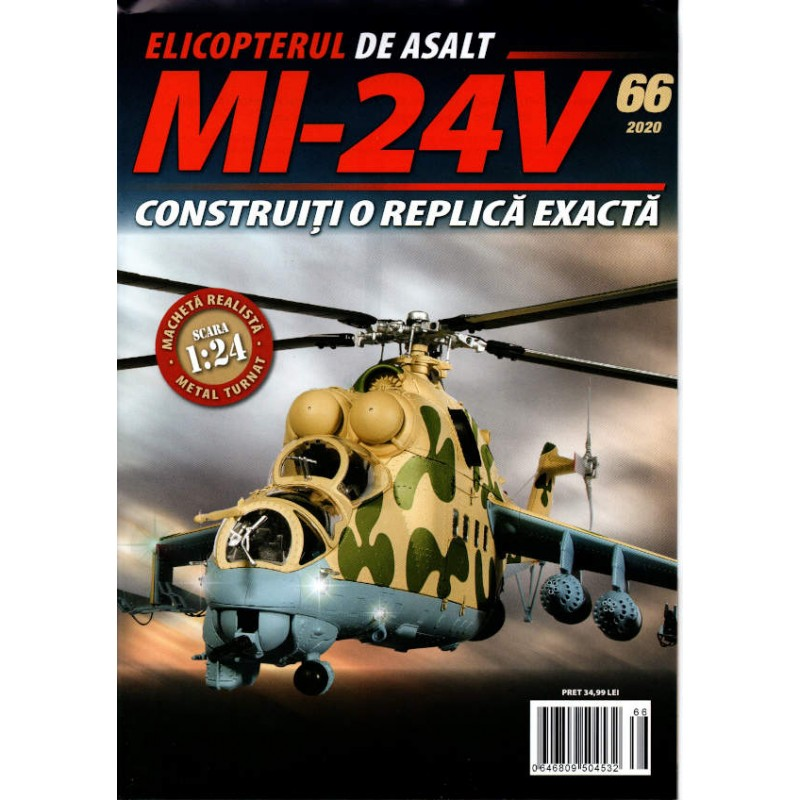 Macheta Elicopterului de asalt MI-24V nr 66, 1:24 Eaglemoss