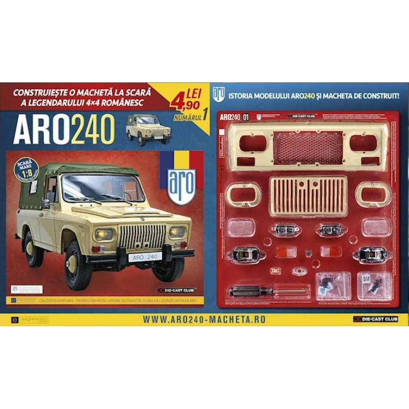 Abonament Macheta auto ARO 240 KIT Nr.prezent-130, scara 1:8 Eaglemoss