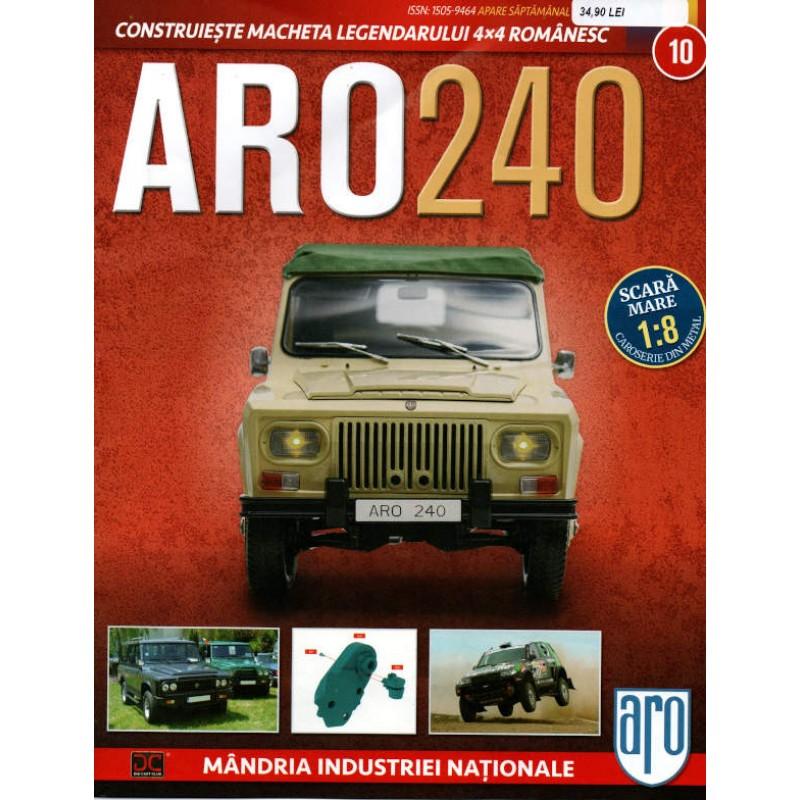 Macheta auto ARO 240 KIT Nr.10 - elemente motor, scara 1:8 Eaglemoss