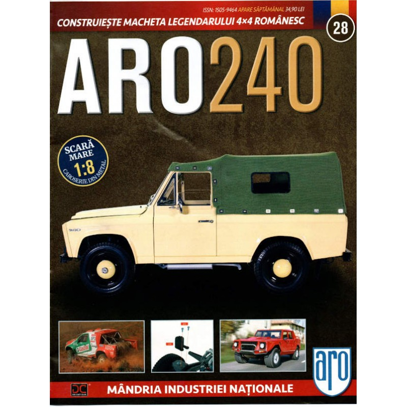 Macheta auto ARO 240 KIT Nr.28 – panou compartiment motor, scara 1:8 Eaglemoss