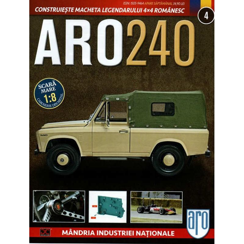 Macheta auto ARO 240 KIT Nr.4 - elemente motor, scara 1:8 Eaglemoss