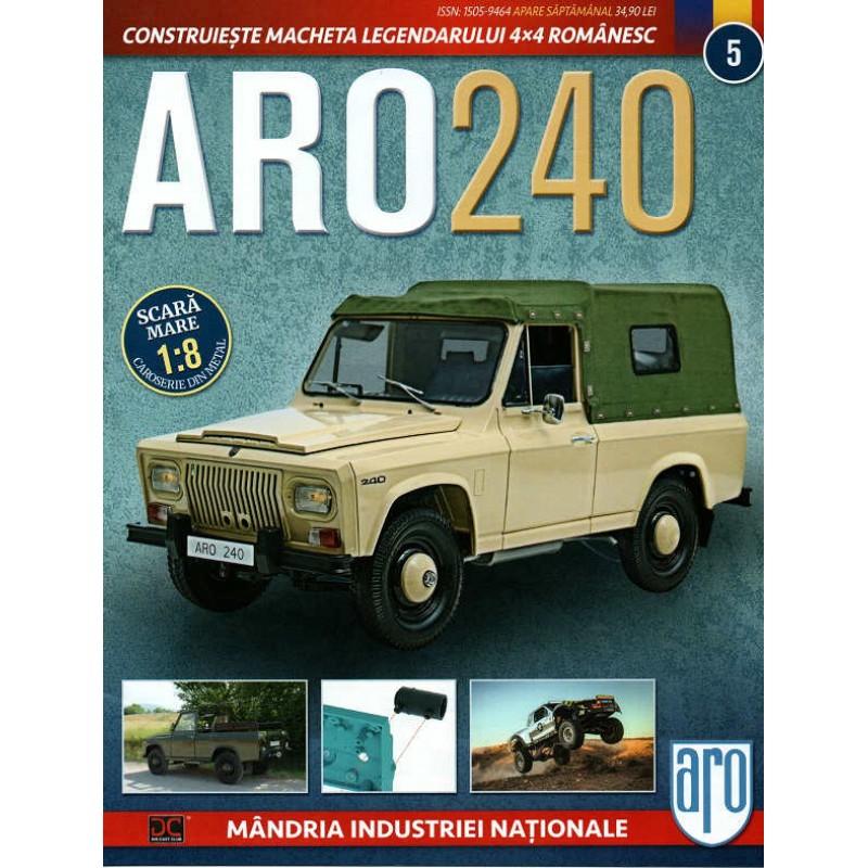Macheta auto ARO 240 KIT Nr.5 - elemente motor, scara 1:8 Eaglemoss