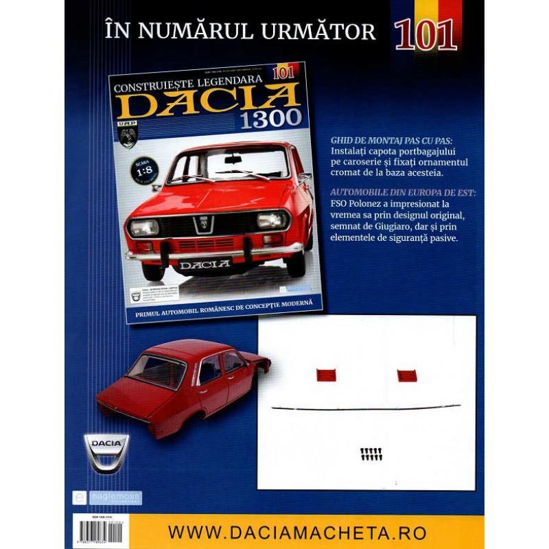 Macheta auto Dacia 1300 KIT Nr.100 - capota portbagaj part3, scara 1:8 Eaglemoss