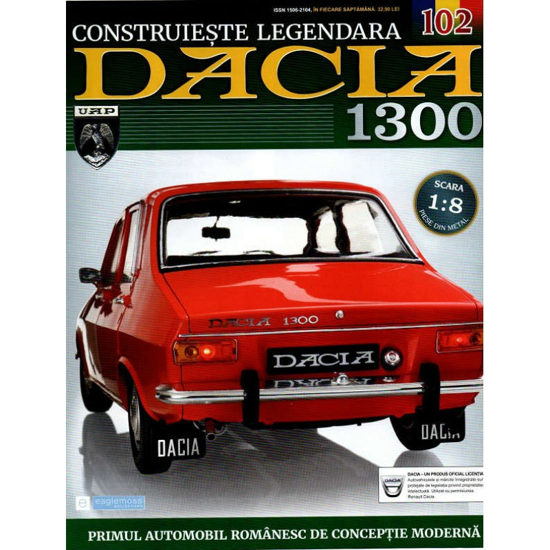 Macheta auto Dacia 1300 KIT Nr.102 - elemente interior part1, scara 1:8 Eaglemoss