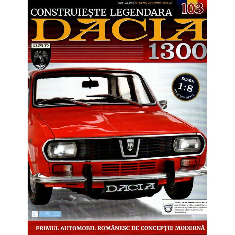 Macheta auto Dacia 1300 KIT Nr.103 - elemente interior part2, scara 1:8 Eaglemoss