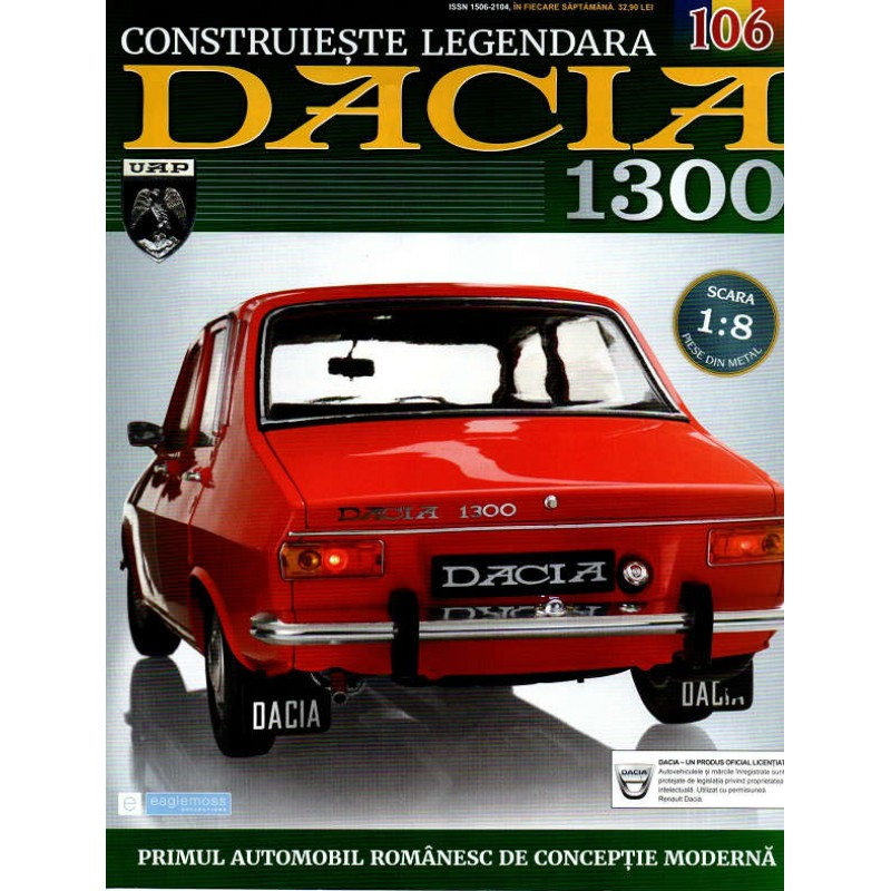Macheta auto Dacia 1300 KIT Nr.106 - elemente interior part5, scara 1:8 Eaglemoss