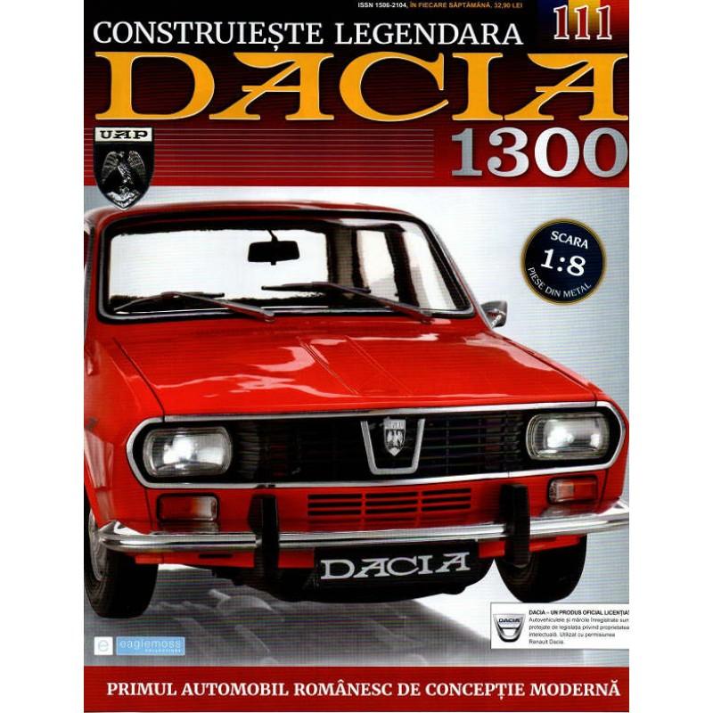 Macheta auto Dacia 1300 KIT Nr.111 - aripa fata stanga, scara 1:8 Eaglemoss
