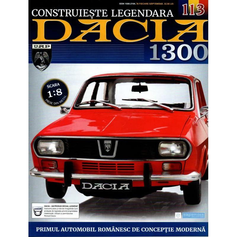 Macheta auto Dacia 1300 KIT Nr.113 - aripa fata dreapta, scara 1:8 Eaglemoss