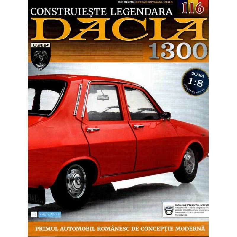 Macheta auto Dacia 1300 KIT Nr.116 - suport numar spate, scara 1:8 Eaglemoss