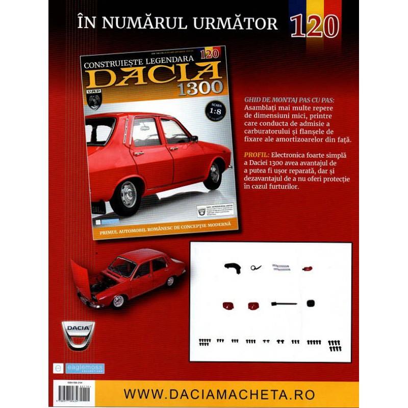 Macheta auto Dacia 1300 KIT Nr.119 - stopuri spate, scara 1:8 Eaglemoss