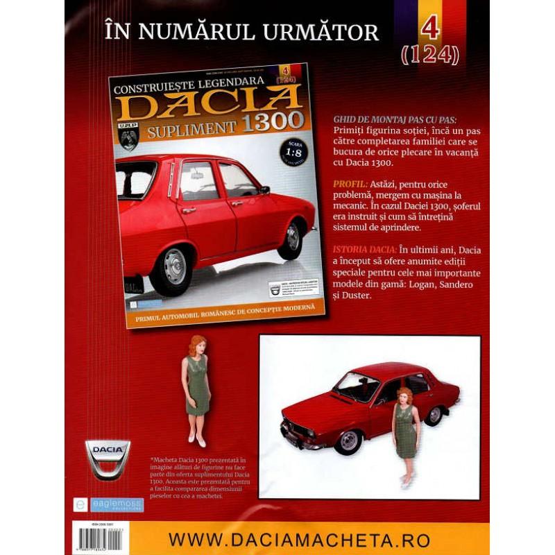 Macheta auto Dacia 1300 KIT Nr.123 (3) Supliment - elemente portbagaj, scara 1:8 Eaglemoss