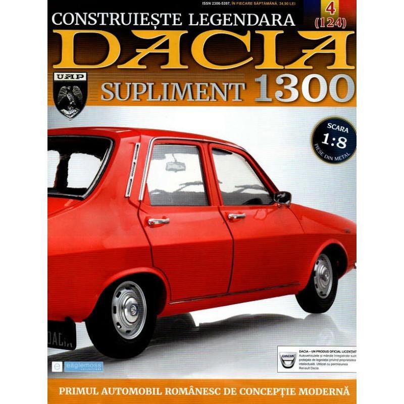 Macheta auto Dacia 1300 KIT Nr.124 (4) Supliment - figurina sotie, scara 1:8 Eaglemoss