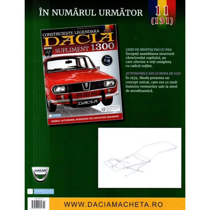 Macheta auto Dacia 1300 KIT Nr.130 (10) Supliment - elemente carucior, scara 1:8 Eaglemoss