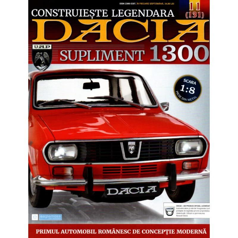 Macheta auto Dacia 1300 KIT Nr.131 (11) Supliment - elemente carucior, scara 1:8 Eaglemoss