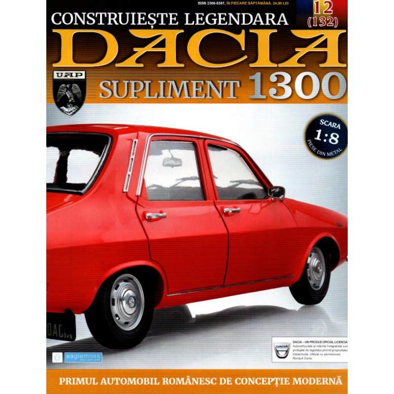 Macheta auto Dacia 1300 KIT Nr.132 (12) Supliment - elemente carucior, scara 1:8 Eaglemoss
