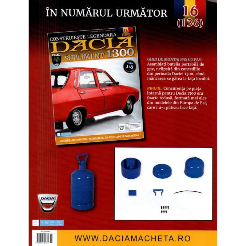 Macheta auto Dacia 1300 KIT Nr.135 (15) Supliment – elemente carucior, scara 1:8 Eaglemoss