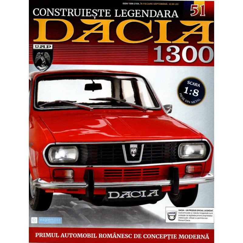 Macheta auto Dacia 1300 KIT Nr.51 - elemente roata, scara 1:8 Eaglemoss