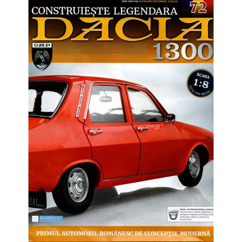 Macheta auto Dacia 1300 KIT Nr.72 - elemente portiera part1, scara 1:8 Eaglemoss