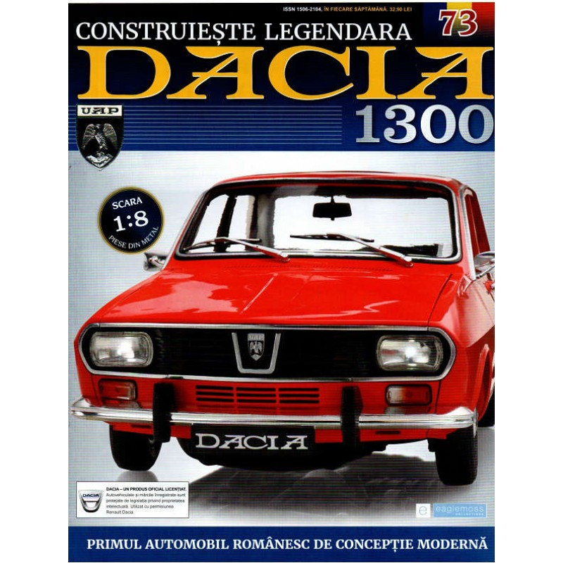 Macheta auto Dacia 1300 KIT Nr.73 - oglinda exterioara, scara 1:8 Eaglemoss