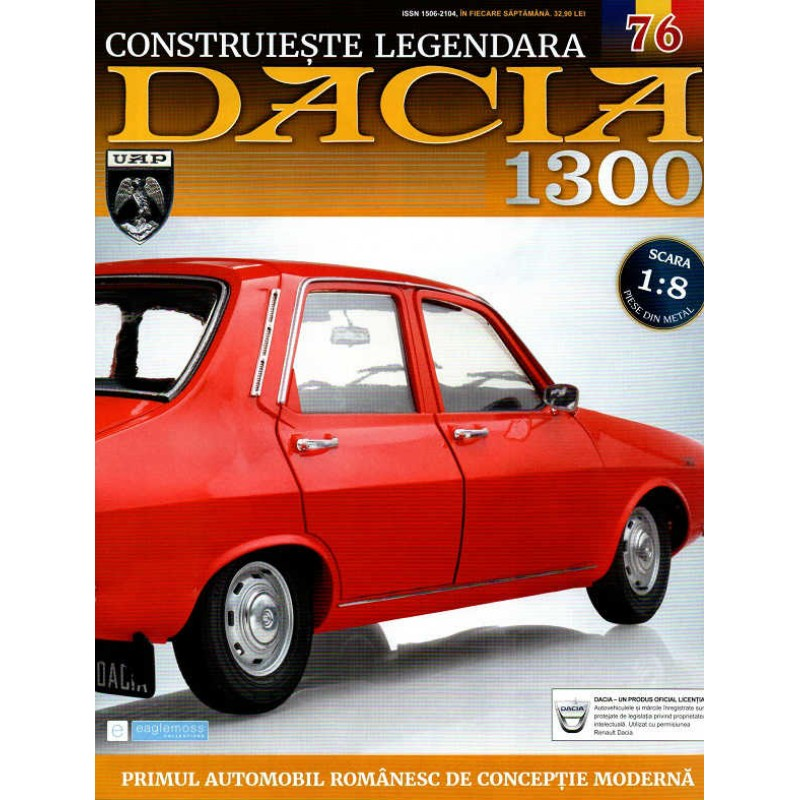 Macheta auto Dacia 1300 KIT Nr.76 - elemente portiera part4, scara 1:8 Eaglemoss