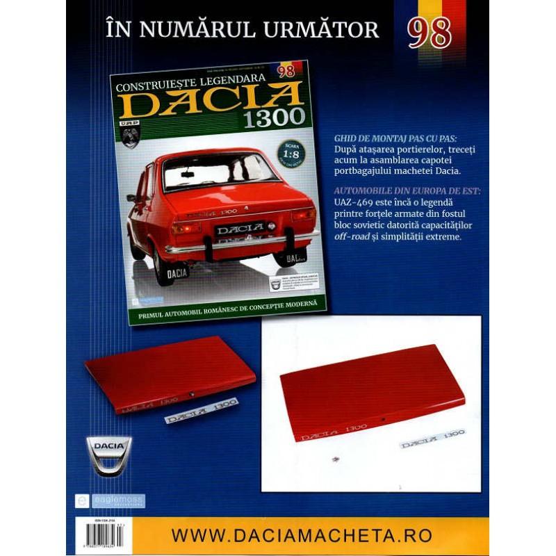 Macheta auto Dacia 1300 KIT Nr.97 - elemente portiera dr-spate part6, scara 1:8 Eaglemoss