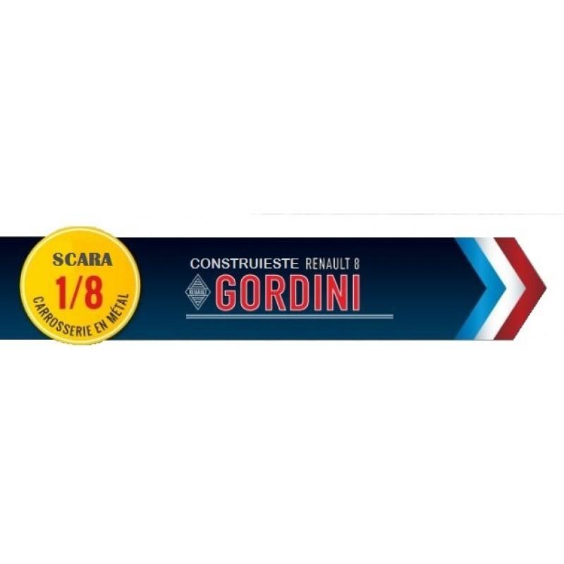 Colectie Macheta Renault 8 Gordini KIT, scara 1:8 Eaglemoss