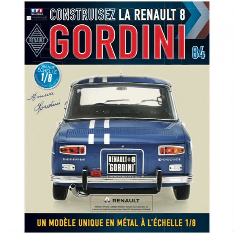 Macheta auto Renault 8 Gordini KIT Nr.84, scara 1:8 Eaglemoss
