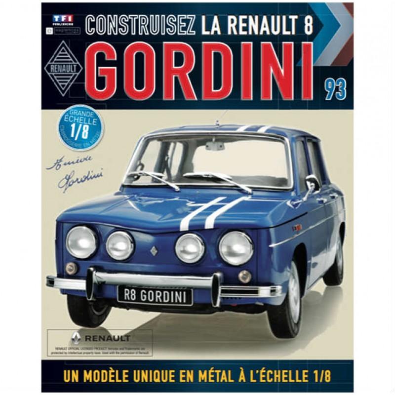 Macheta auto Renault 8 Gordini KIT Nr.93, scara 1:8 Eaglemoss