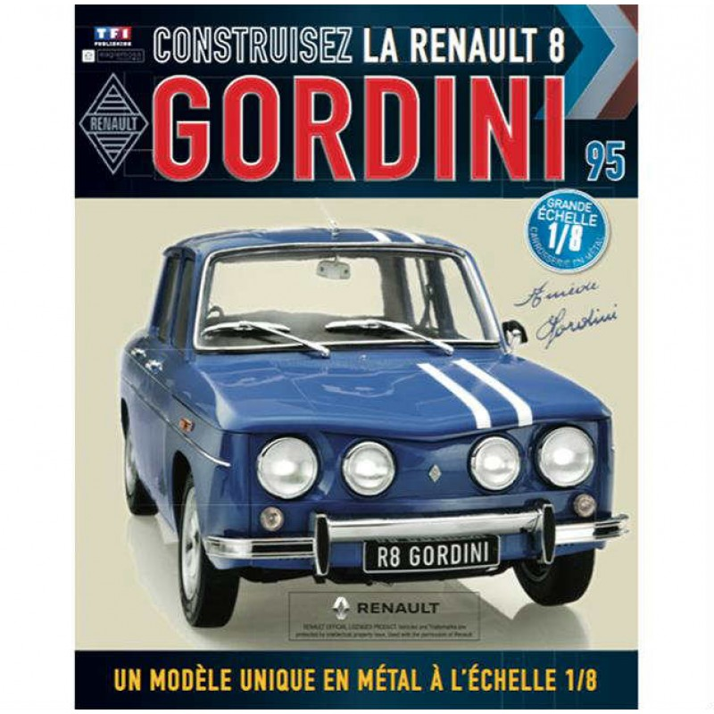 Macheta auto Renault 8 Gordini KIT Nr.95, scara 1:8 Eaglemoss