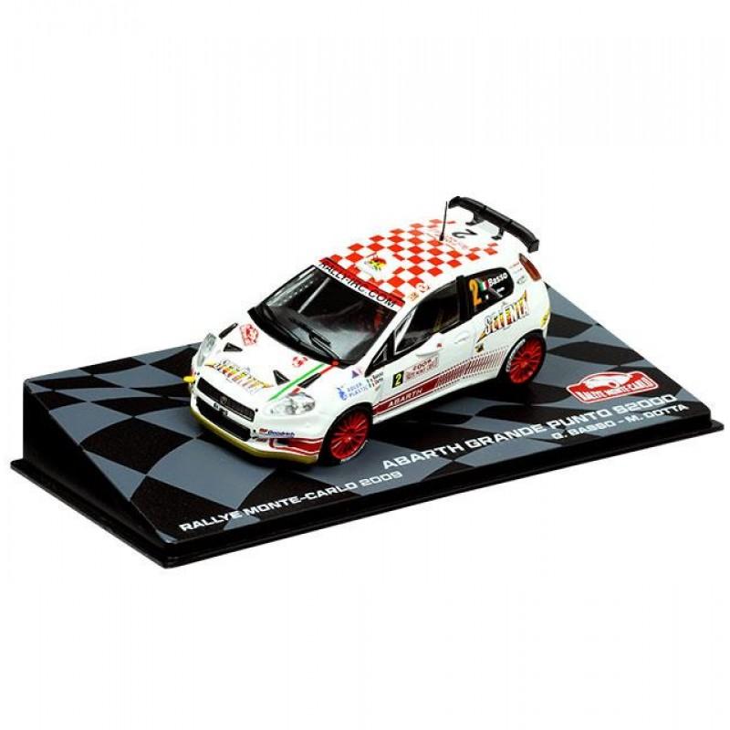 Macheta auto Fiat Abarth Grande Punto S2000 2009 #6, 1:43 Eaglemoss - Colectia Raliul Monte Carlo
