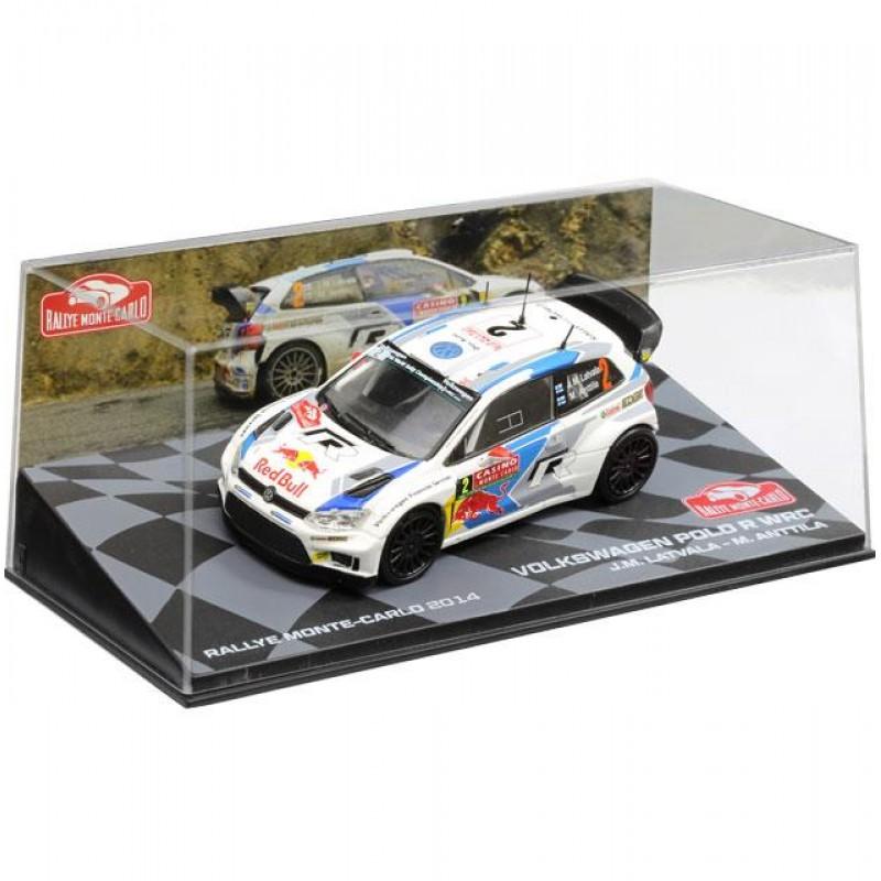 Macheta auto Volkswagen Polo R WRC 2014 #18, 1:43 Eaglemoss - Colectia Raliul Monte Carlo