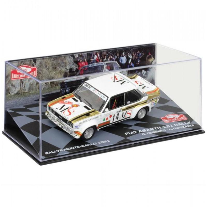 Macheta auto Fiat Abarth 131 Rally 1981 #22, 1:43 Eaglemoss - Colectia Raliul Monte Carlo