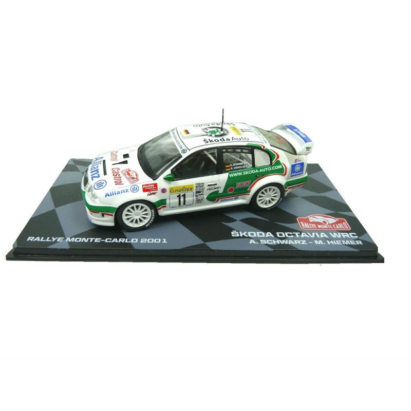 Macheta auto Skoda Octavia WRC 2001 #30, 1:43 Eaglemoss - Colectia Raliul Monte Carlo